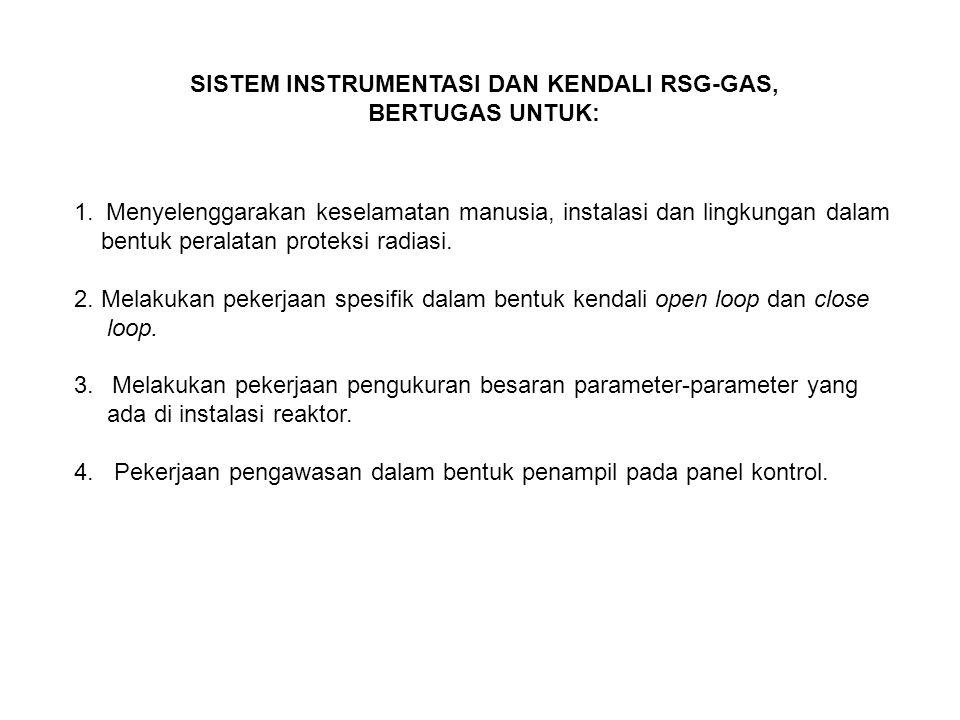 SISTEM INSTRUMENTASI DAN KENDALI RSG-GAS, BERTUGAS UNTUK: