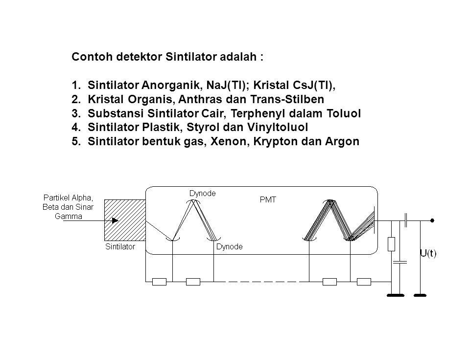 Contoh detektor Sintilator adalah :