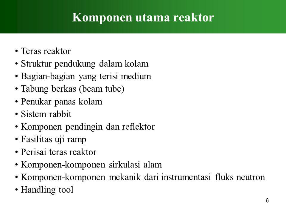 Komponen utama reaktor