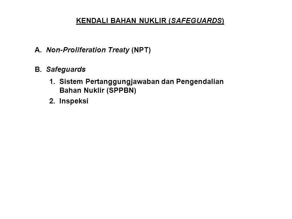 KENDALI BAHAN NUKLIR (SAFEGUARDS)