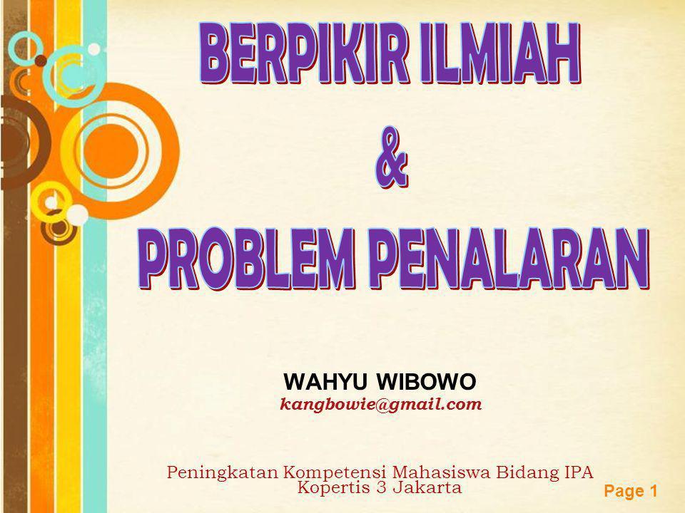 Peningkatan Kompetensi Mahasiswa Bidang IPA Kopertis 3 Jakarta