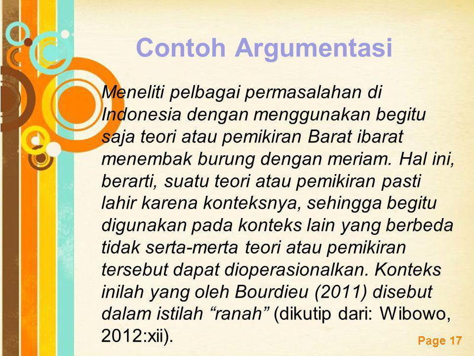 Contoh Argumentasi