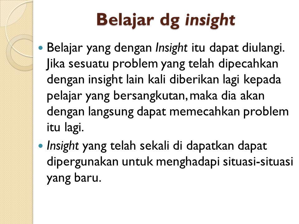 Belajar dg insight