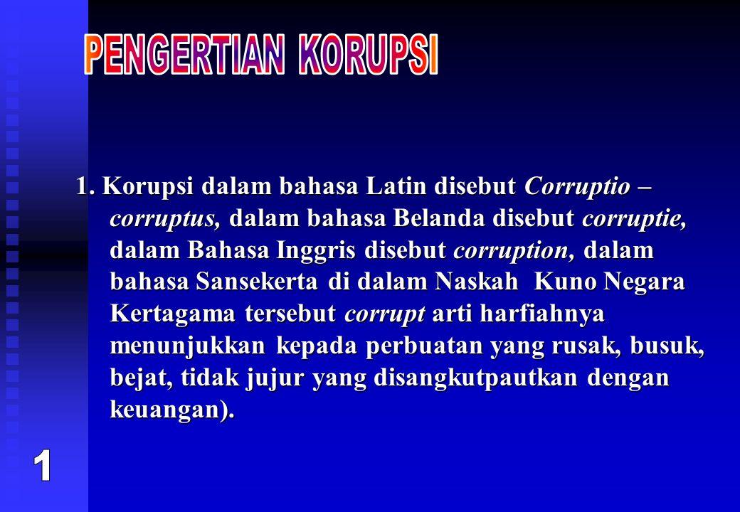 PENGERTIAN KORUPSI
