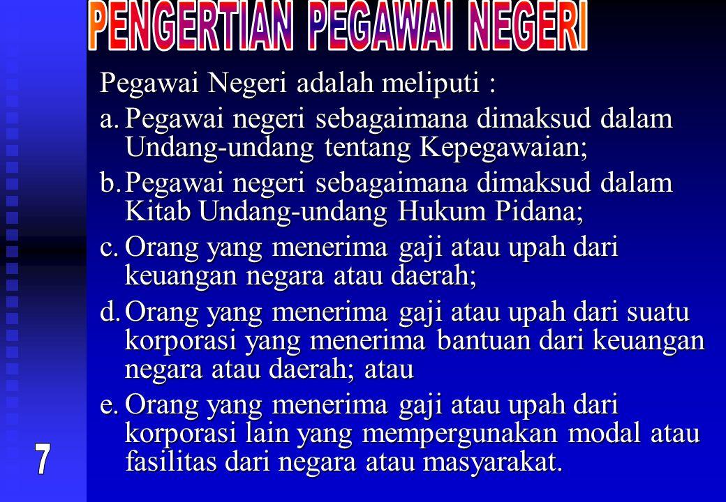 PENGERTIAN PEGAWAI NEGERI
