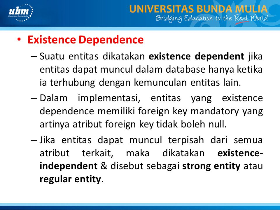 Existence Dependence