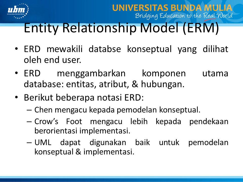 Entity Relationship Model (ERM)