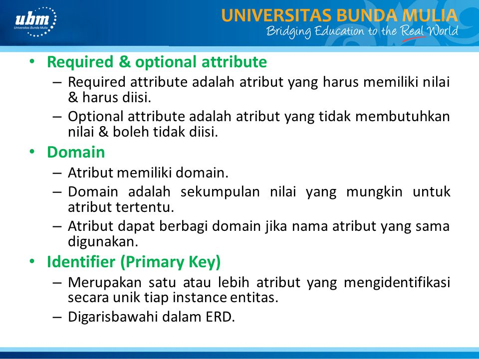 Required & optional attribute