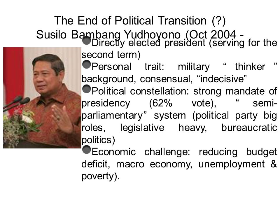 The End of Political Transition (