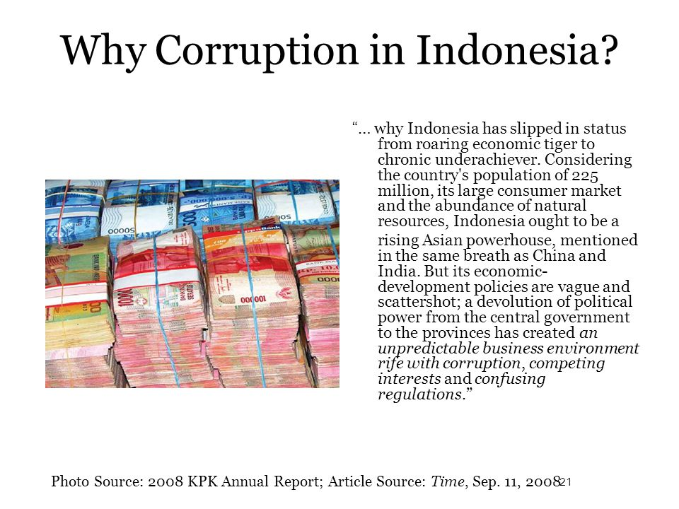 Why Corruption in Indonesia