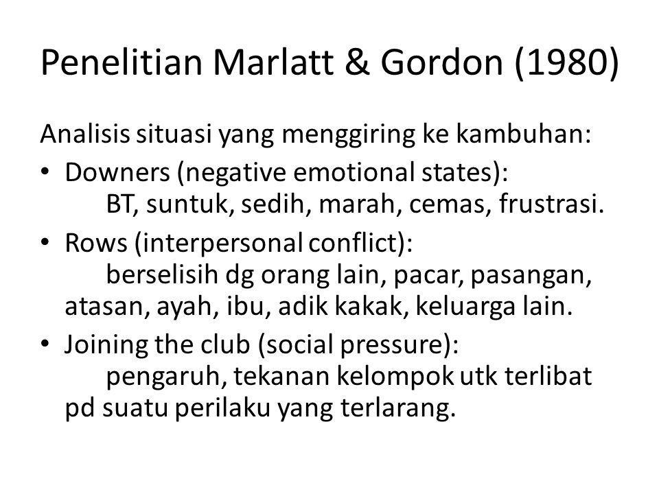 Penelitian Marlatt & Gordon (1980)
