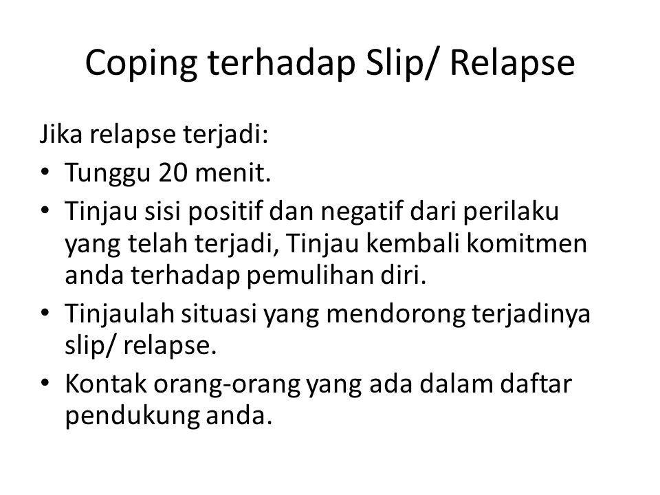 Coping terhadap Slip/ Relapse