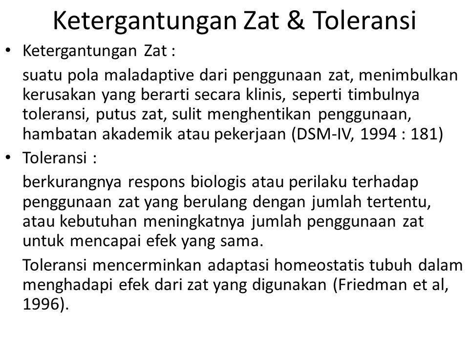 Ketergantungan Zat & Toleransi