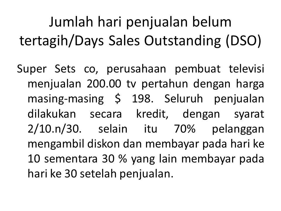 Jumlah hari penjualan belum tertagih/Days Sales Outstanding (DSO)