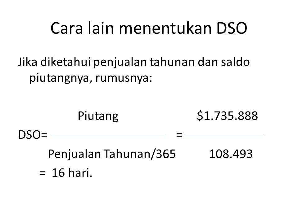 Cara lain menentukan DSO