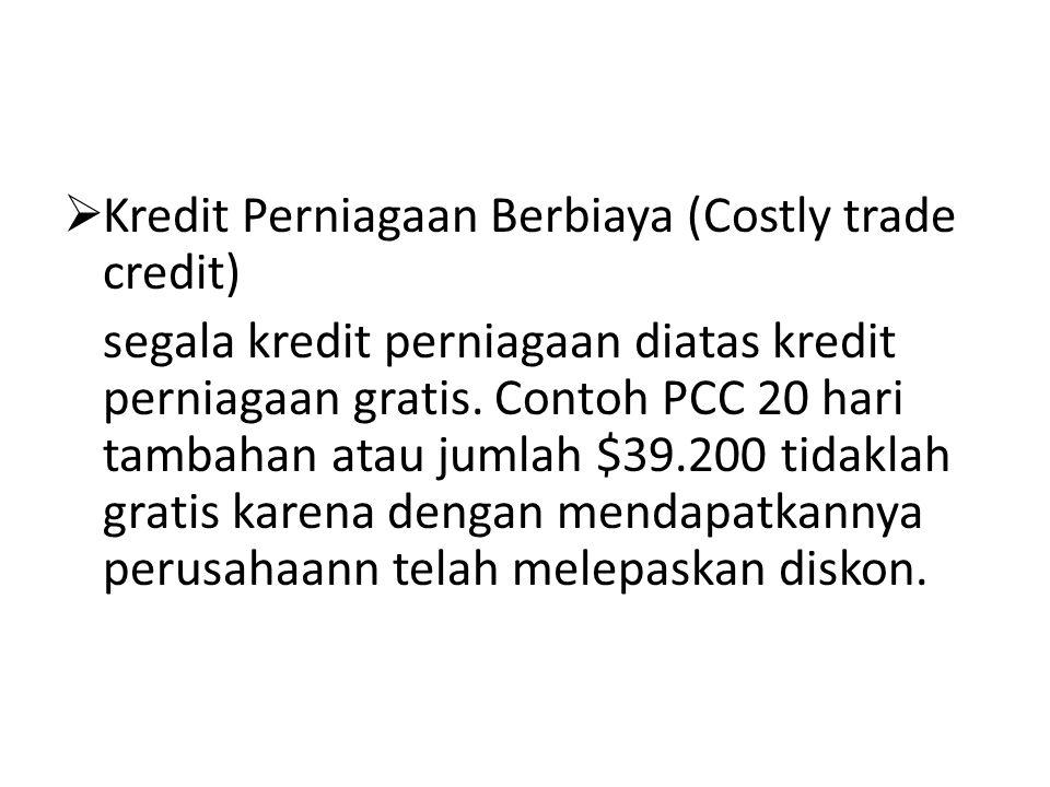 Kredit Perniagaan Berbiaya (Costly trade credit)