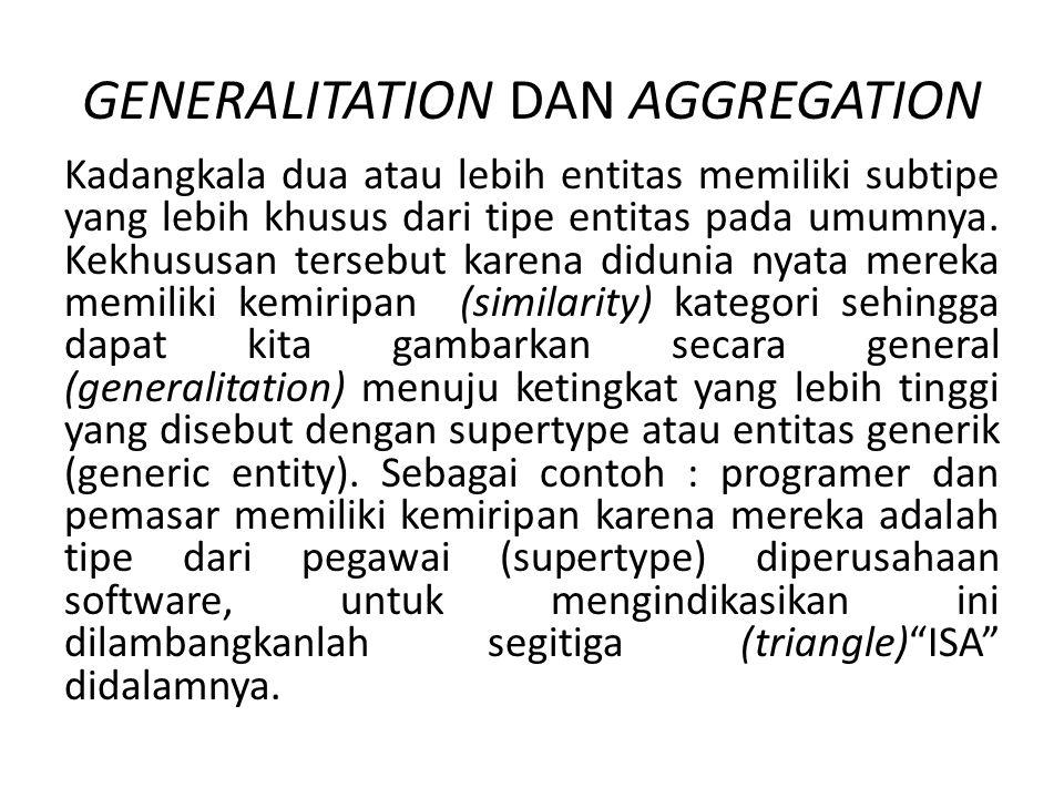 GENERALITATION DAN AGGREGATION