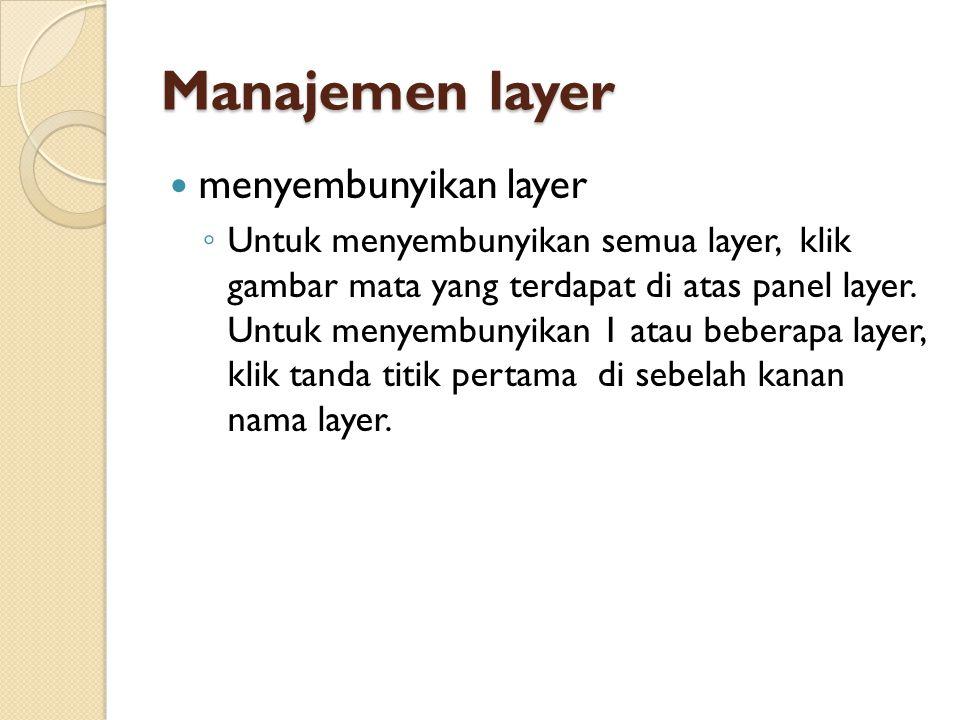 Manajemen layer menyembunyikan layer