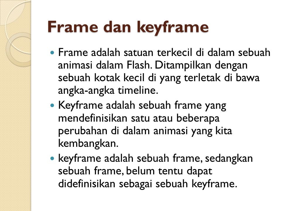Frame dan keyframe