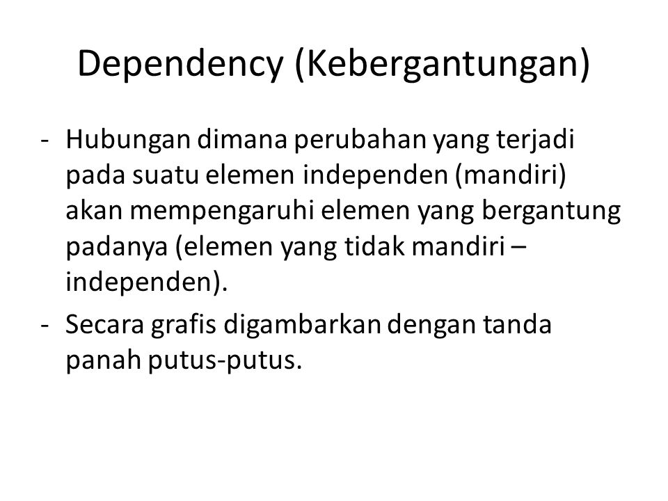 Dependency (Kebergantungan)