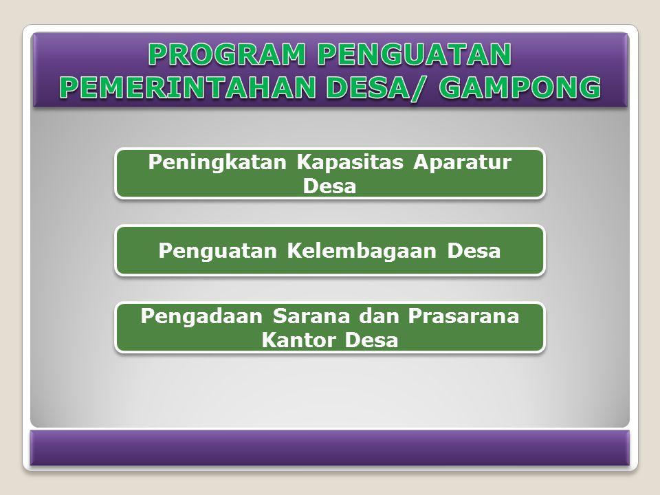 PROGRAM PENGUATAN PEMERINTAHAN DESA/ GAMPONG