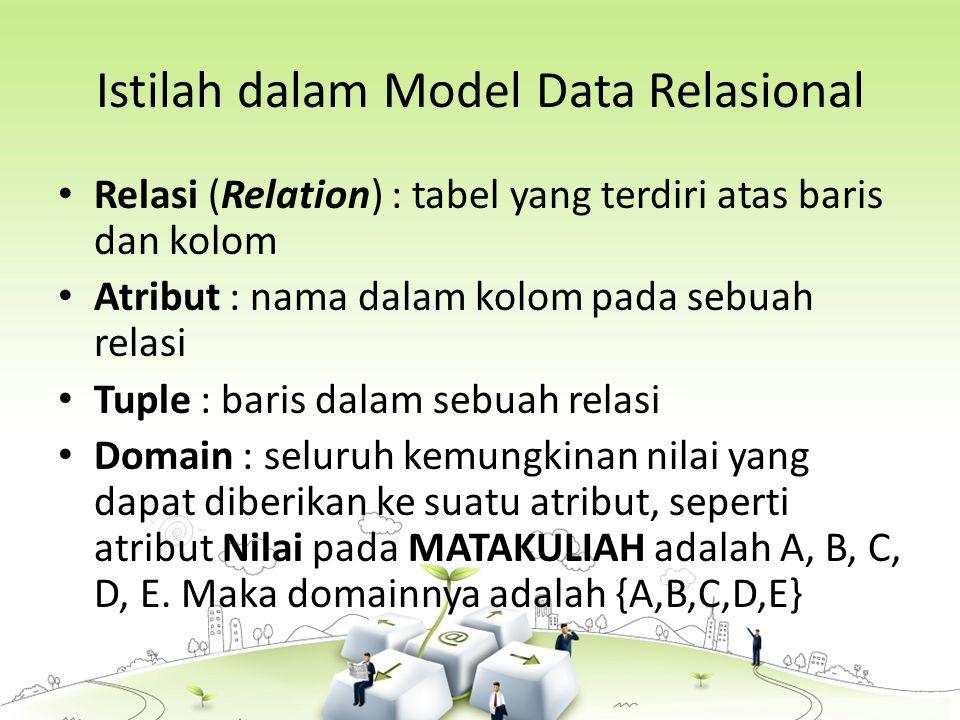 Istilah dalam Model Data Relasional