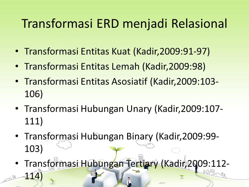 Transformasi ERD menjadi Relasional