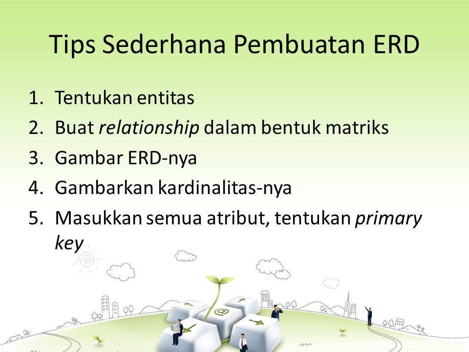 Tips Sederhana Pembuatan ERD