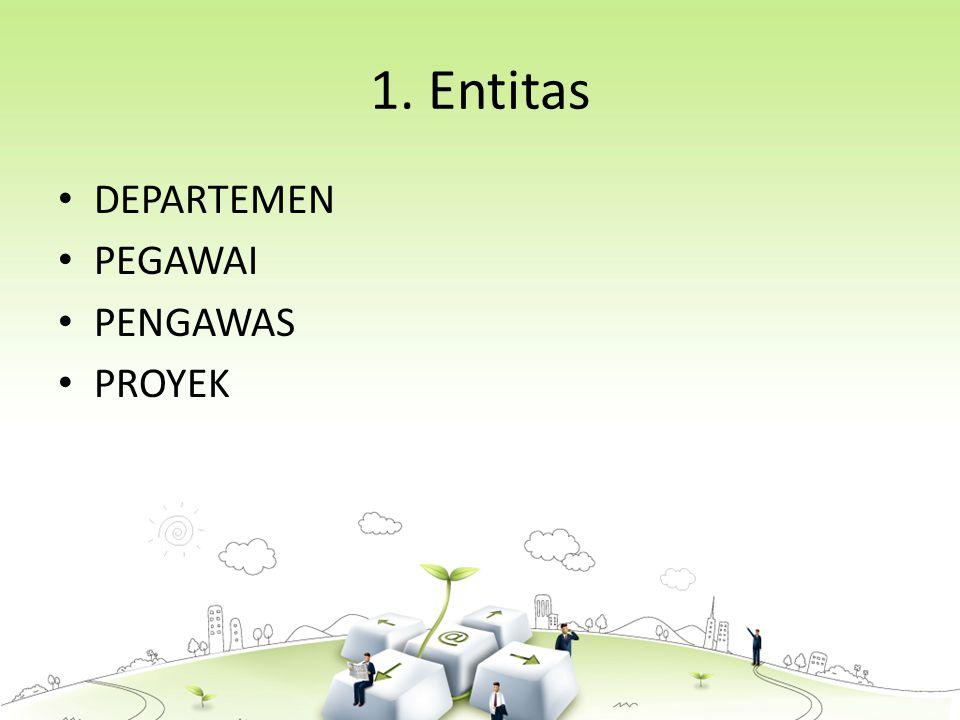 1. Entitas DEPARTEMEN PEGAWAI PENGAWAS PROYEK