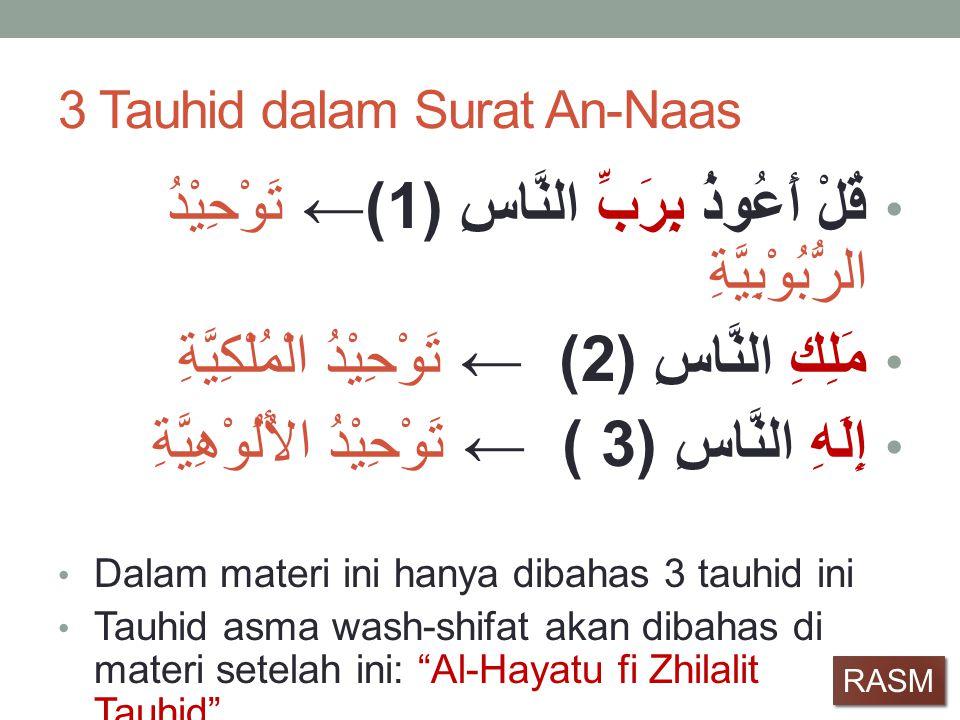 3 Tauhid dalam Surat An-Naas