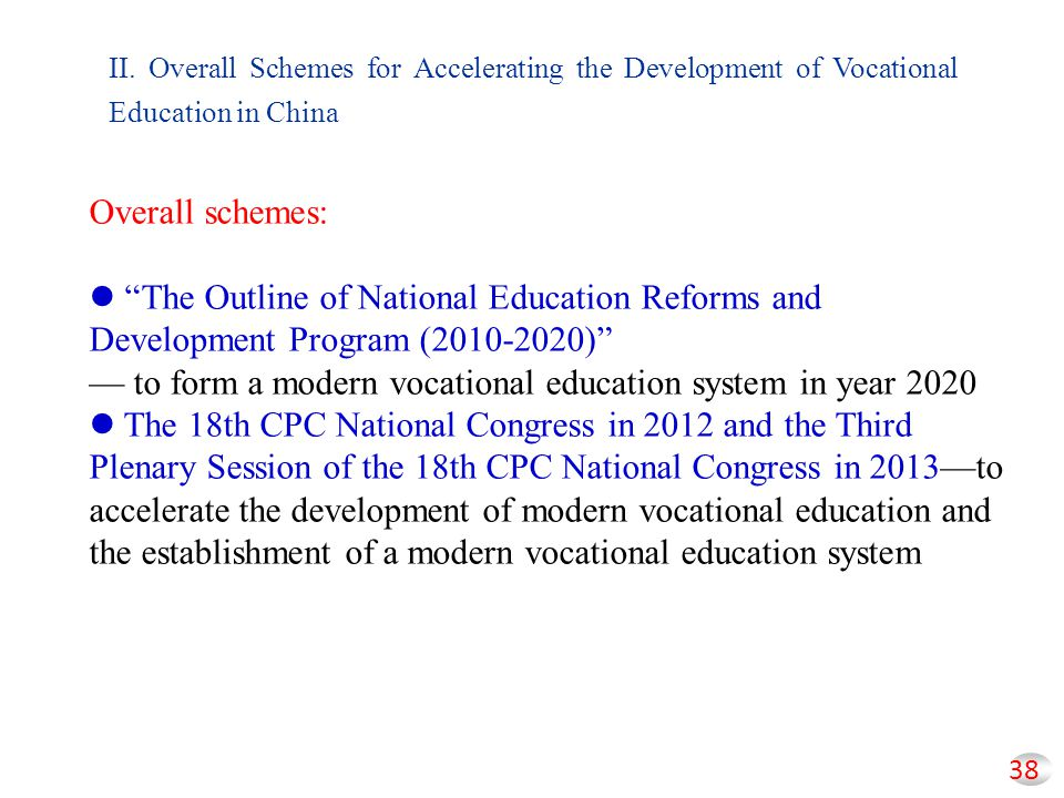 — to form a modern vocational education system in year 2020