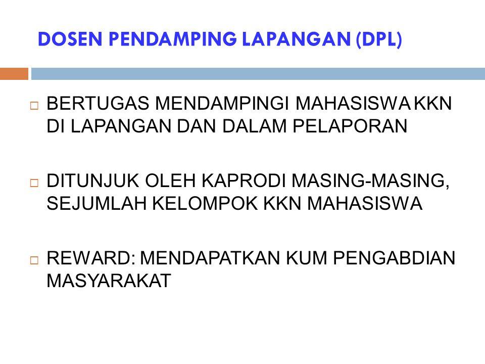 DOSEN PENDAMPING LAPANGAN (DPL)