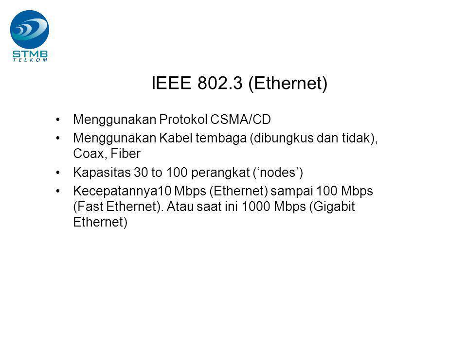 IEEE 802.3 (Ethernet) Menggunakan Protokol CSMA/CD