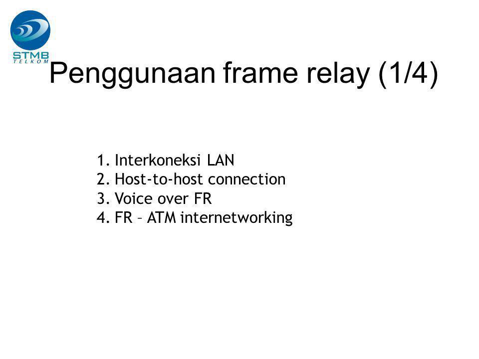 Penggunaan frame relay (1/4)