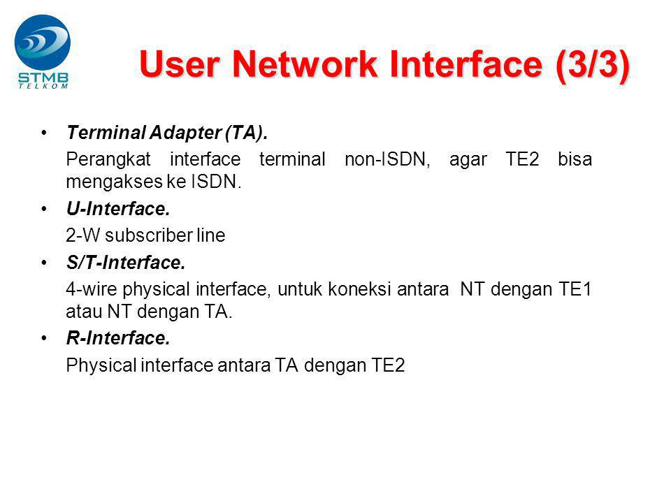 User Network Interface (3/3)