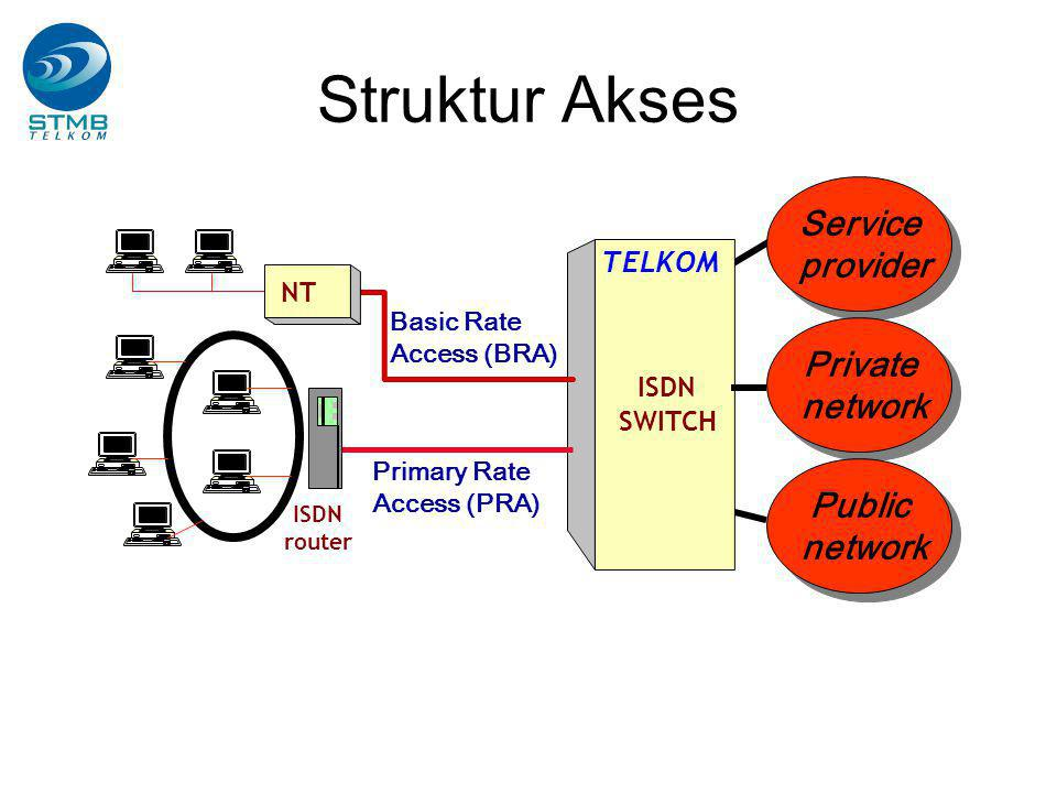 Struktur Akses Service provider Private network Public network TELKOM