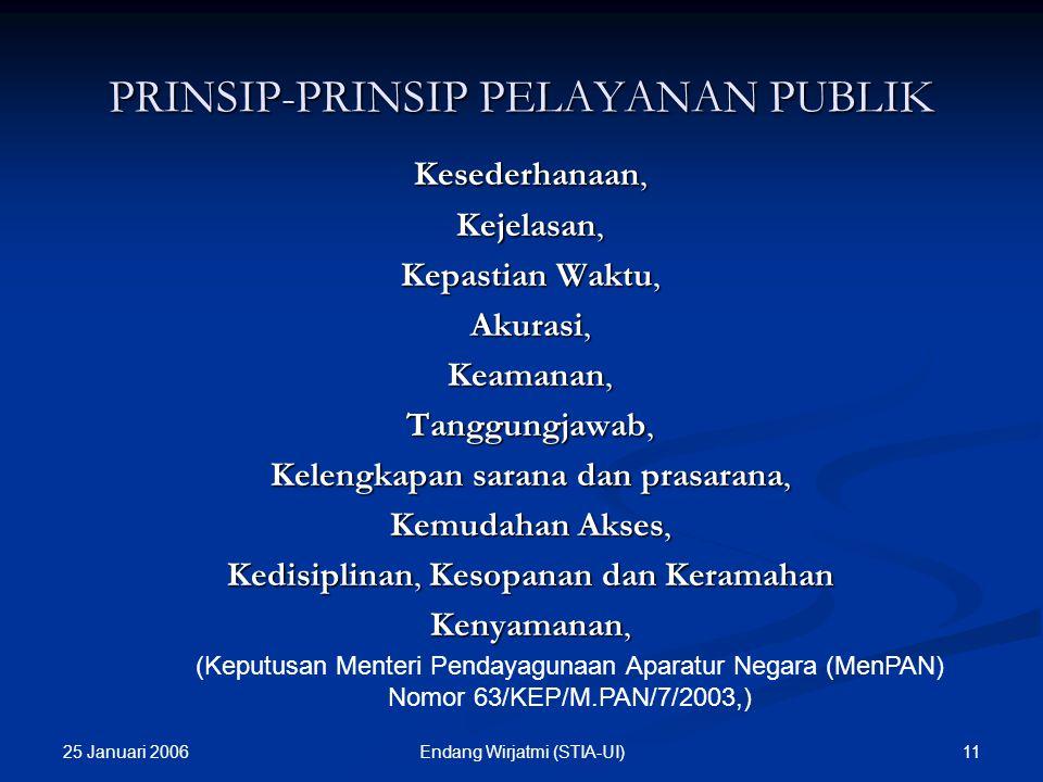 PRINSIP-PRINSIP PELAYANAN PUBLIK