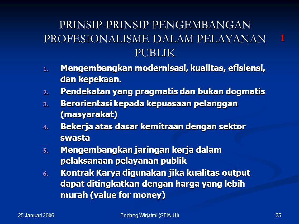 PRINSIP-PRINSIP PENGEMBANGAN PROFESIONALISME DALAM PELAYANAN PUBLIK