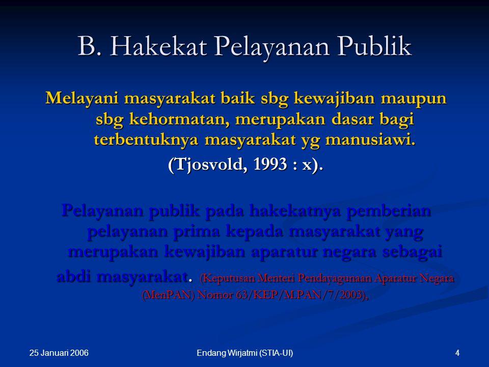 B. Hakekat Pelayanan Publik