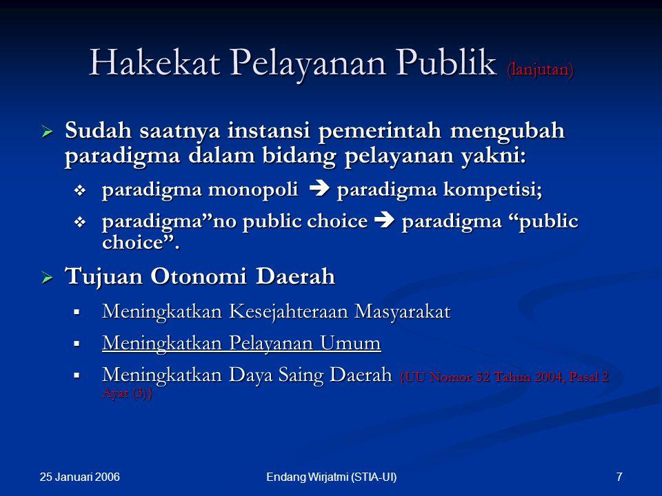 Hakekat Pelayanan Publik (lanjutan)