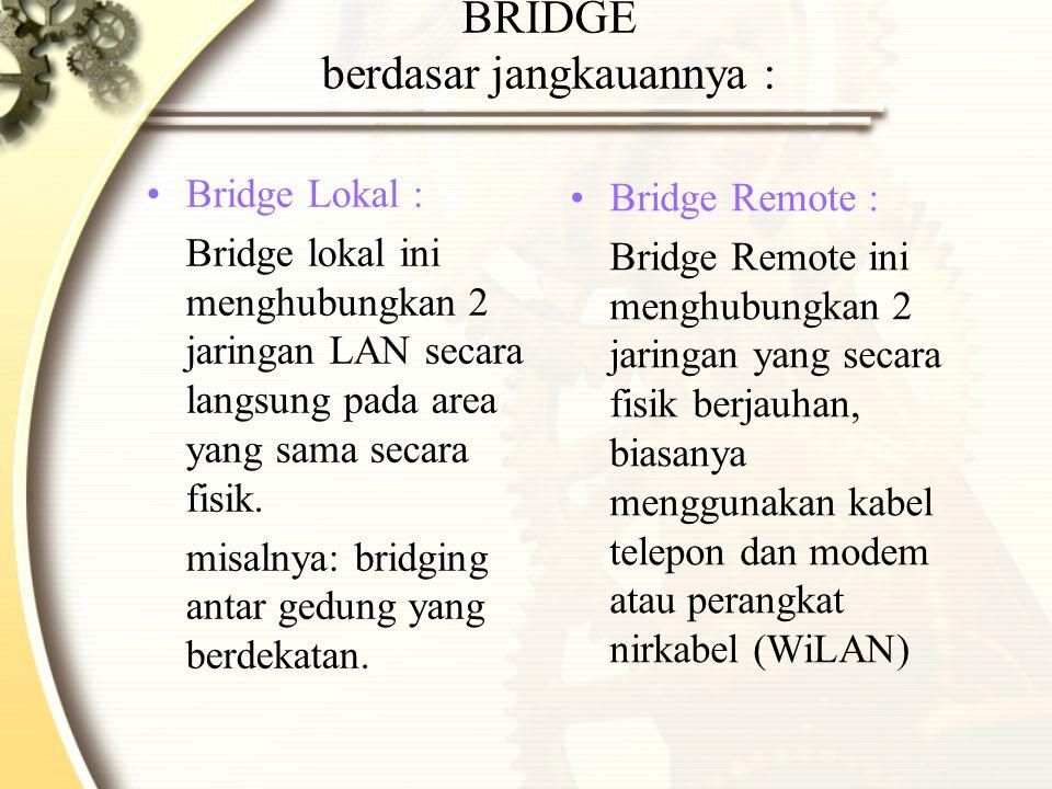 BRIDGE berdasar jangkauannya :