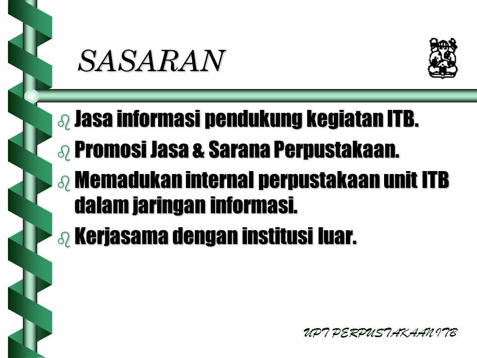 SASARAN Jasa informasi pendukung kegiatan ITB.