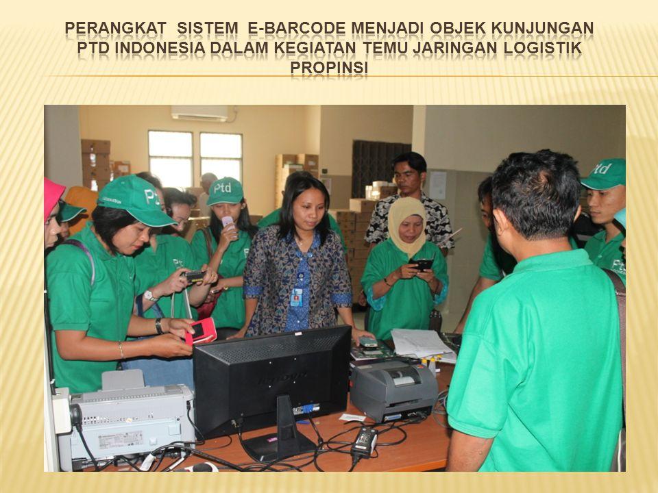 PERANGKAT SISTEM E-BARCODE MENJADI OBJEK KUNJUNGAN PtD INDONESIA DALAM KEGIATAN TEMU JARINGAN LOGISTIK PROPINSI