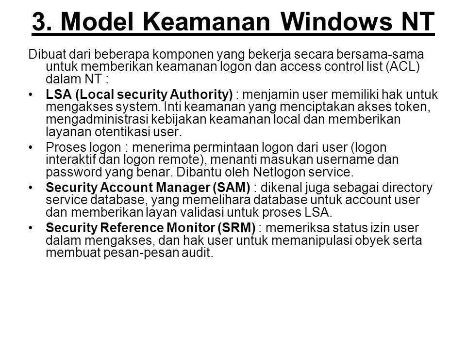 3. Model Keamanan Windows NT