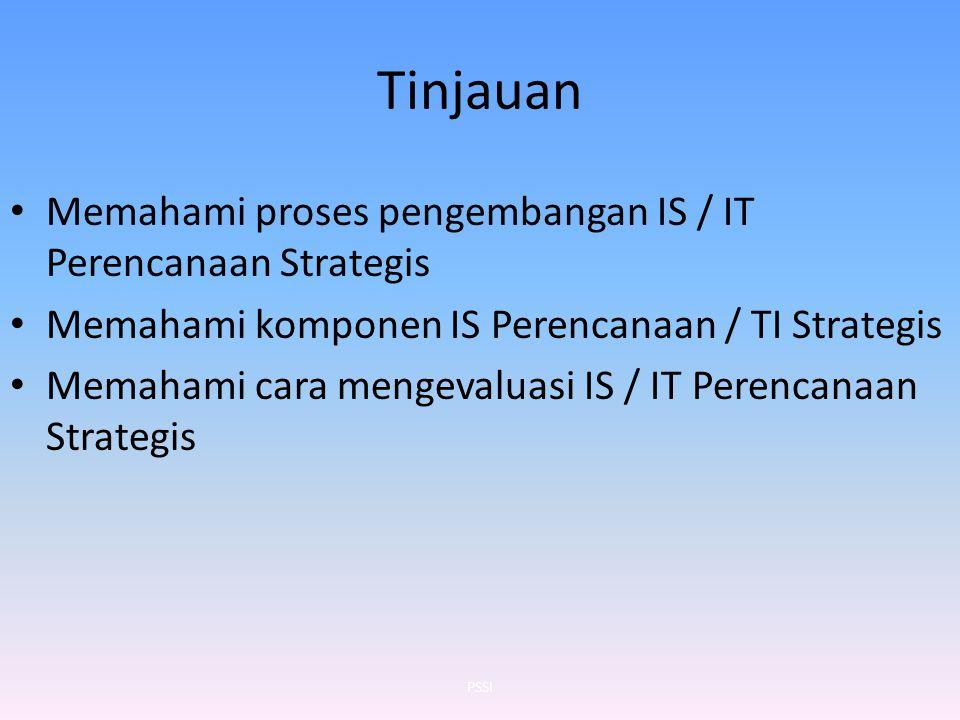 Tinjauan Memahami proses pengembangan IS / IT Perencanaan Strategis