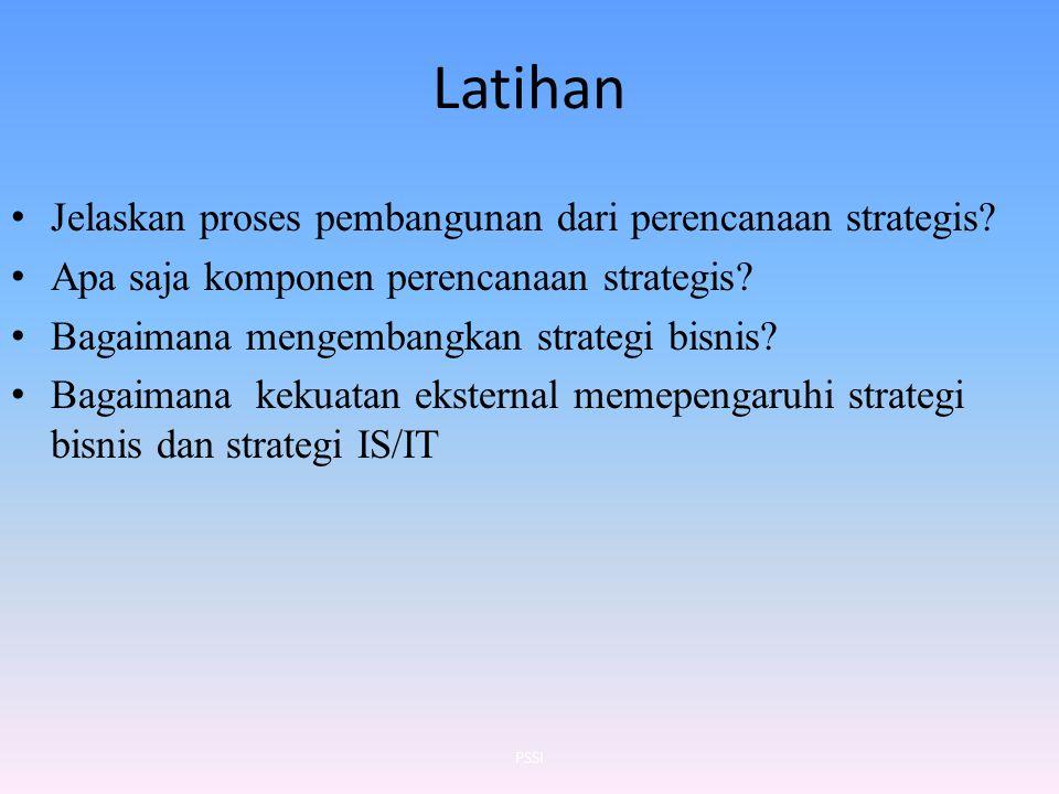 Latihan Jelaskan proses pembangunan dari perencanaan strategis