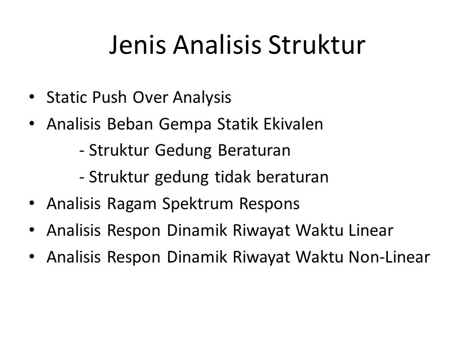 Jenis Analisis Struktur