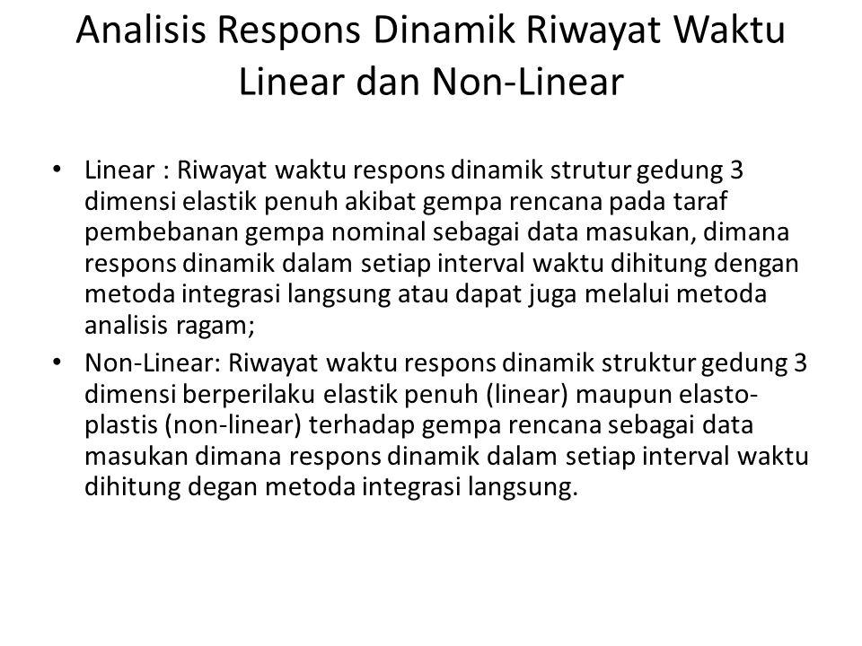 Analisis Respons Dinamik Riwayat Waktu Linear dan Non-Linear