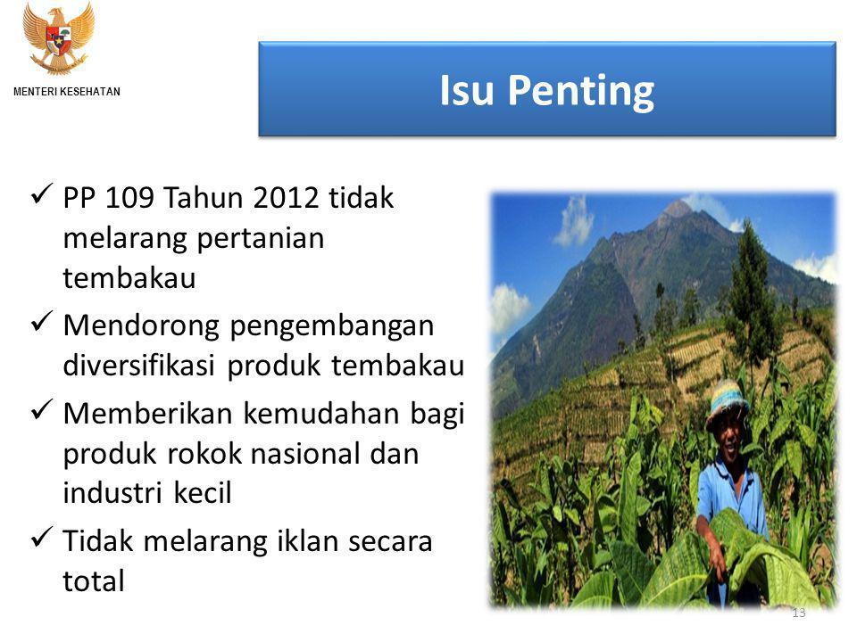 Isu Penting PP 109 Tahun 2012 tidak melarang pertanian tembakau