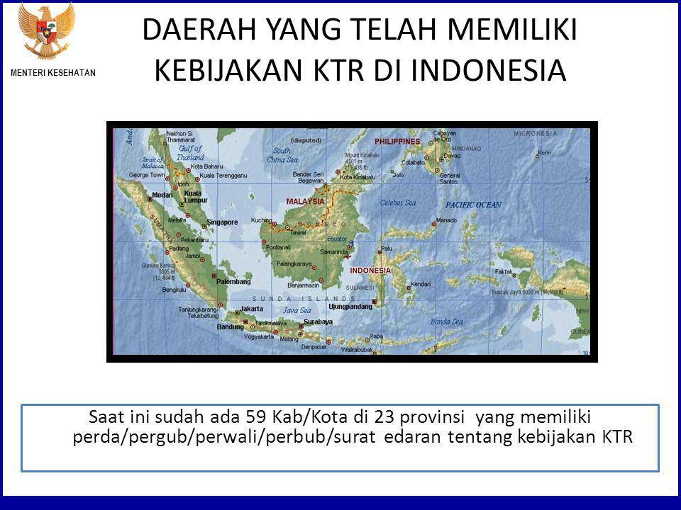 DAERAH YANG TELAH MEMILIKI KEBIJAKAN KTR DI INDONESIA